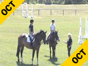 Gail Greenough<br> Assisting<br> Georgia Young<br> My Fair Lady<br> Irish Sporthorse<br> 14 yrs. old Mare<br> Training: 1.30 meters<br> Breanne McAlister<br> Santos<br> 11yrs. old Gelding<br> KWPN<br> Training: 1.30 meters<br> Duration: 37 min
