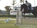 Callan Solem<br> Riding & Lecturing<br> Bianca<br> Belgium Warmblood<br> 9 yrs. old Mare<br> Training: 1.35 meters<br> Owner: Horseshoe Trail Farm<br> Duration: 40 minutes